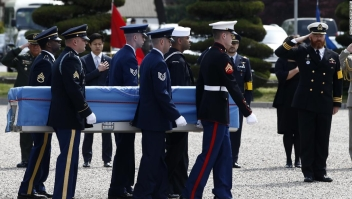 Repatriación de soldados de la guerra de Corea