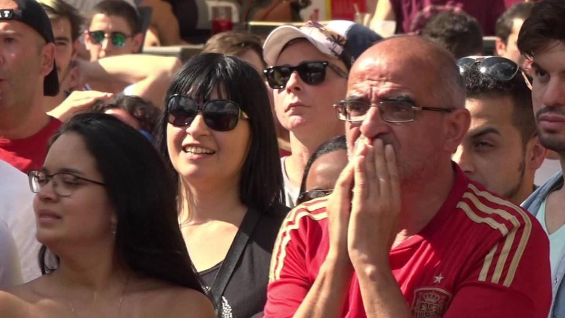 Tristeza tras eliminación de España de Rusia 2018