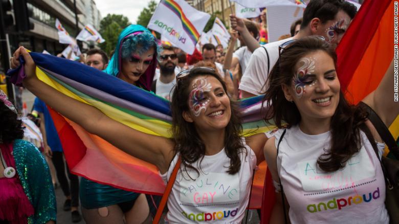 Imágenes de la manifestación anual del Orgullo en Londres en 2015.