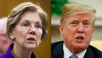 """Trump insiste en llamar """"Pocahontas"""" a senadora Elizabeth Warren"""