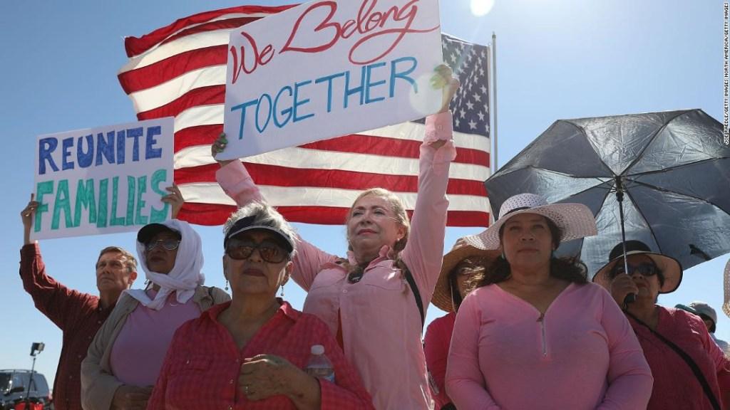 Manifestación en contra de las separaciones de familias en la frontera de Estados Unidos.