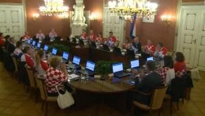 #LaCifraDelDía: Los representantes de los 20 ministerios de Croacia se reunieron usando la camisa de su selección de fútbol