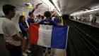 Así celebra el metro de París la Copa del Mundo de Francia