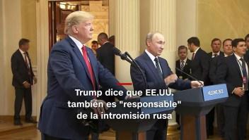 #MinutoCNN: Trump también culpa a EE.UU. de intromisión rusa