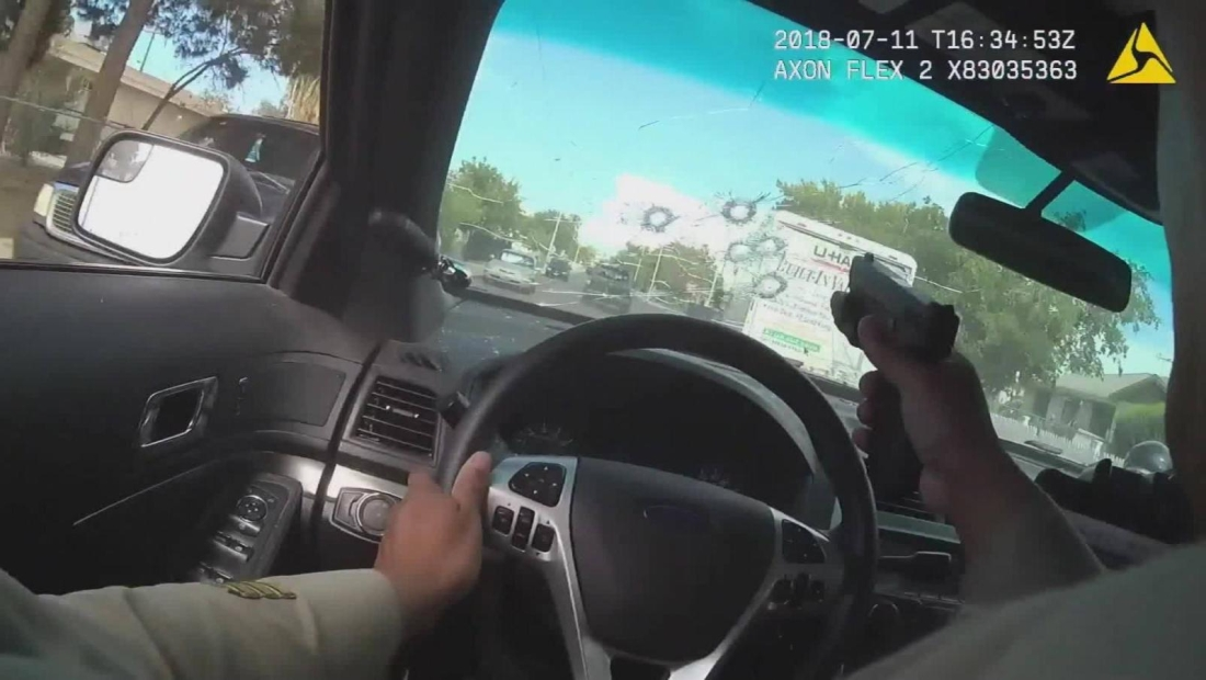 34 disparos: violenta persecución en Las Vegas