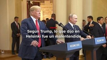#MinutoCNN: Trump dice que hubo un malentendido en Helsinki