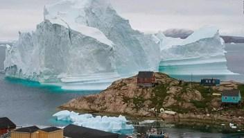 Groenlandia vive la amenaza de un megaiceberg