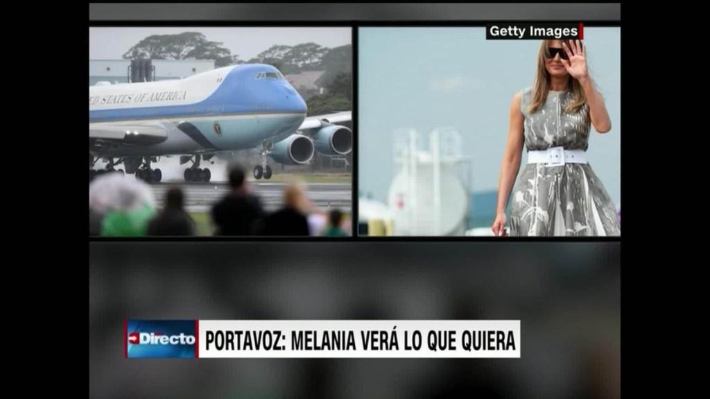Melania evita controversia sobre episodio con Trump