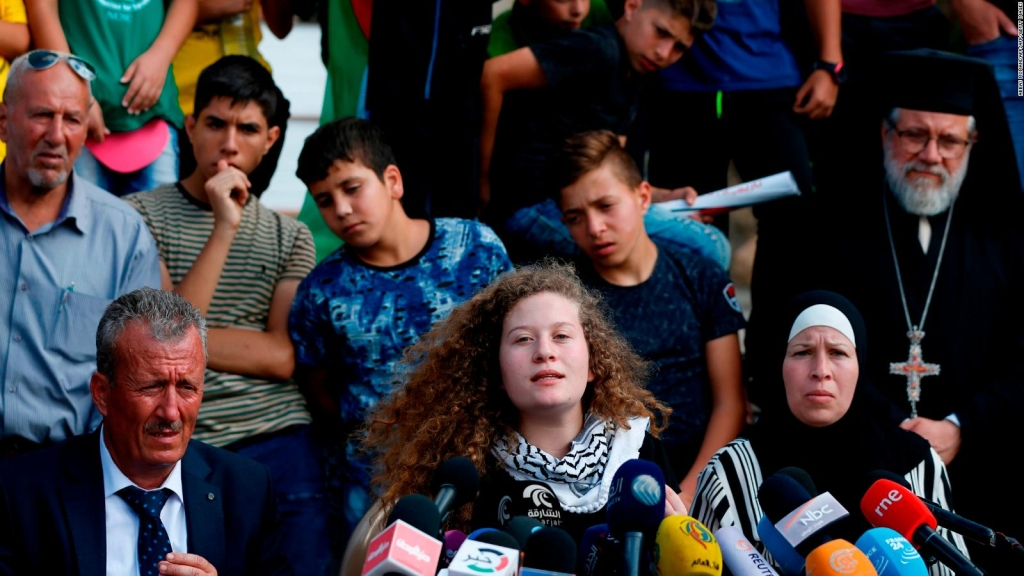 Israel libera a polémica joven palestina.