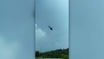 Sobreviven ocupantes de accidente de helicóptero en China