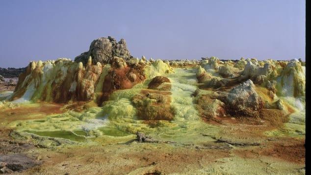 En 2016, los científicos estudiaron la Depresión de Danakil, en Etiopía, en un intento por comprender cómo podría existir la vida en Marte.
