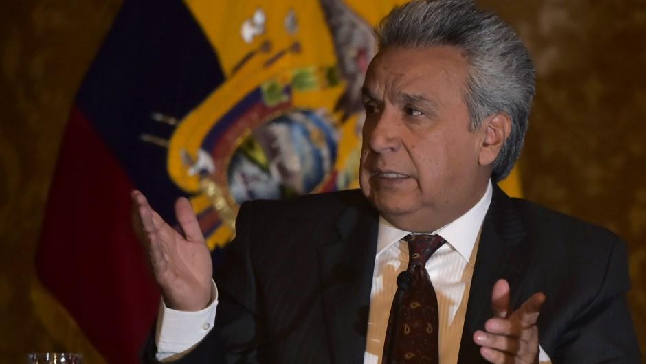 Lenín Moreno, presidente de Ecuador, en una imagen de julio de 2018. (Crédito: RODRIGO BUENDIA/AFP/Getty Images)