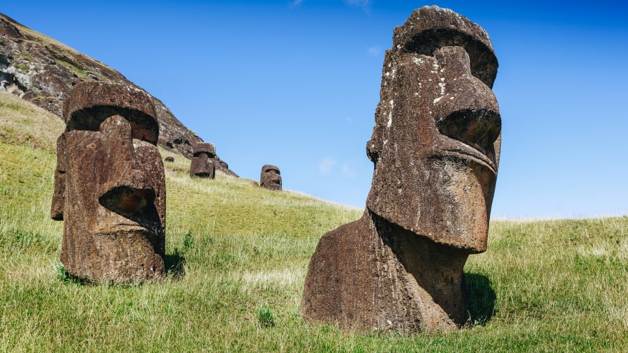 Isla de Pascua, Chile: El hogar de esas notables estatuas está a solo 1.600 kilómetros de distancia de Nemo, también conocido como el Polo de Inaccesibilidad.