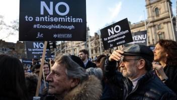 Manifestaciones antisemitismo en Reino Unido.