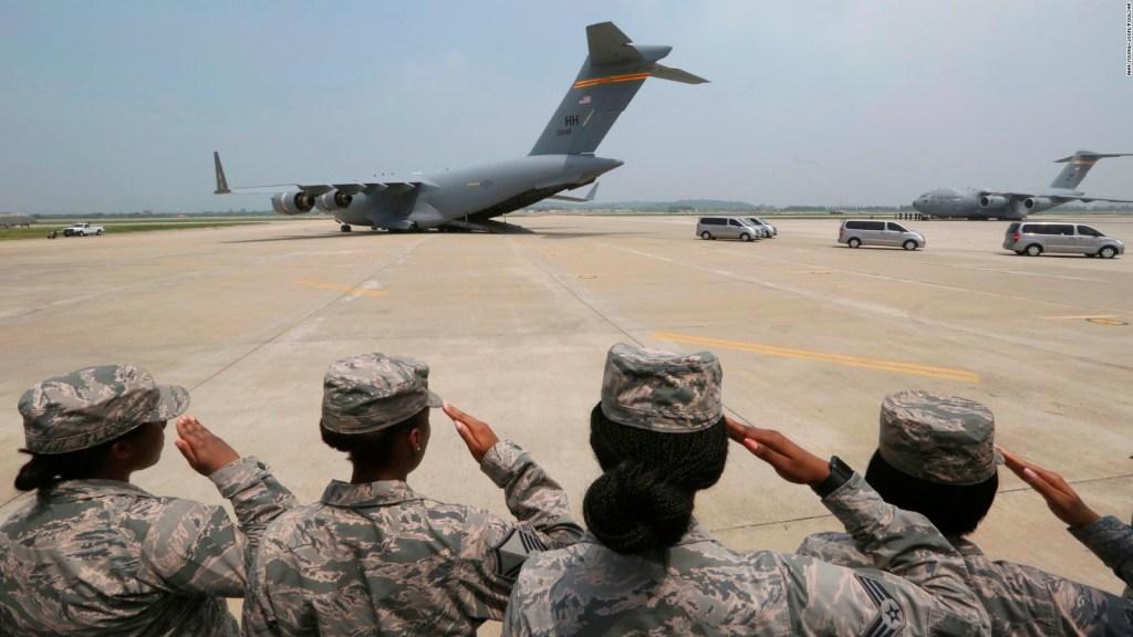 Restos de soldados de la guerra de Corea, vuelven a EE.UU.