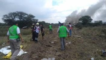 Sobreviviente del accidente de Aeroméxico toma video dentro del avión