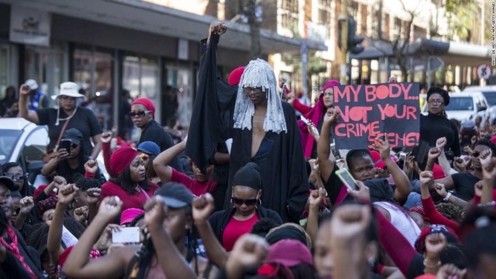 La marcha 'TotalShutDown' en Pretoria, Sudáfrica, el 1 de agosto de este año.