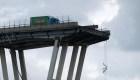 Así colapsó el puente en Italia