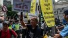 Líder independentista exige la libertad de Hong Kong
