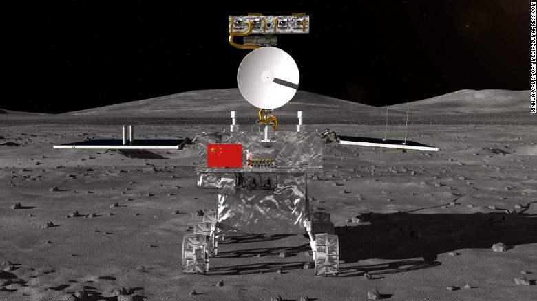 El rover de China para la sonda lunar Chang'e-4, que se espera aterrice en el otro lado de la luna este año, fue presentado el miércoles. (Crédito: Xinhua via ZUMA Wire)