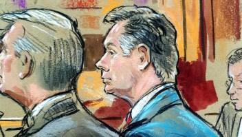 Dibujo de Paul Manafort durante el juicio por presunto fraude, entre otros delitos.