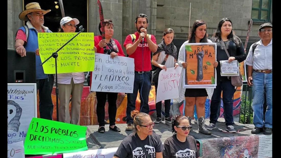 Exigen justicia afectados por derrame minero en Sonora