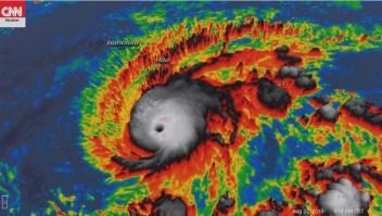 Hurricane Lane se muestra en una imagen de satélite desde el miércoles por la mañana.
