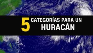 Te explicamos una a una las cinco categorías de huracán
