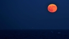 #LaImagenDelDía: deslumbrante luna roja en Japón