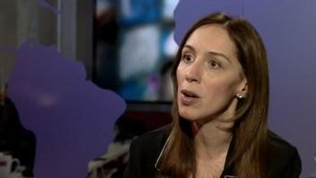 María Eugenia Vidal habla de las irregularidades en los aportes a la campaña de Cambiemos