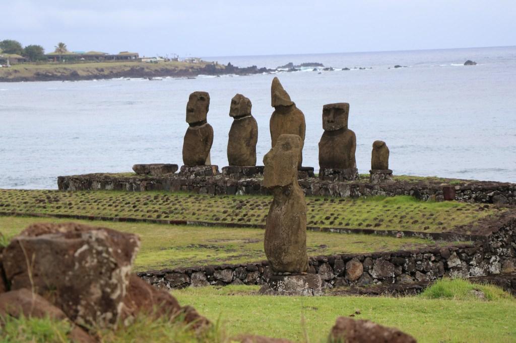Moais en Isla de Pascua, Chile. (Crédito: Ministerio de Bienes Nacionales de Chile).