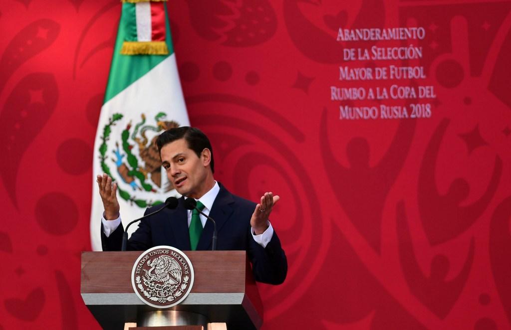 Enrique Peña Nieto dando un discurso. (Crédito: PEDRO PARDO/AFP/Getty Images)