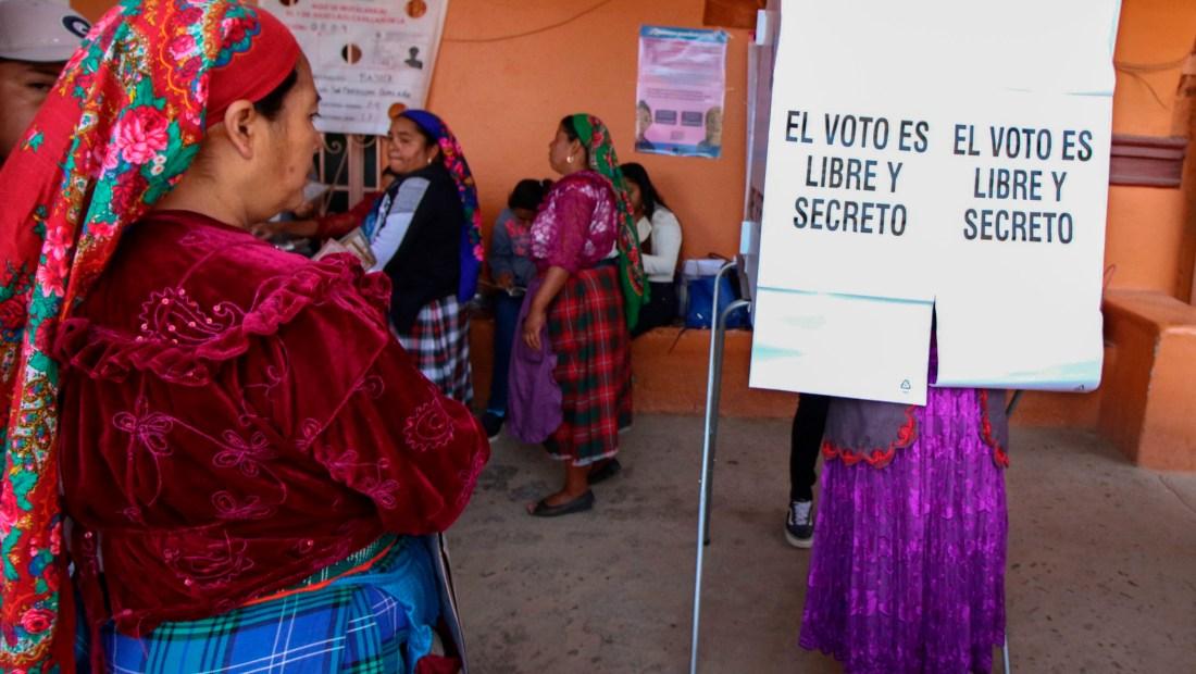 Votación en Oaxaca el 1 de julio de 2018. (Crédito: PATRICIA CASTELLANOS/AFP/Getty Images)
