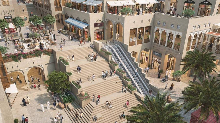 Arquitectónicamente, partes de Dubai Square rinden homenaje a los zocos del emirato, los mercados tradicionales que siguen siendo un gran atractivo para los visitantes.