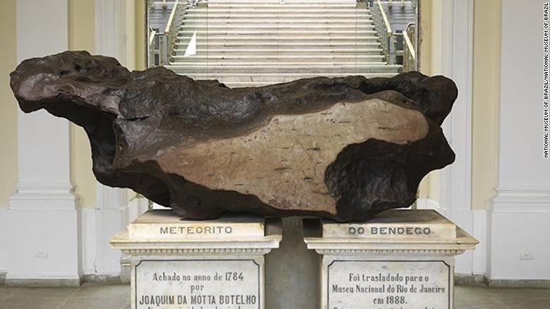 Photo's of artifacts at the National Museum of Brazil in Rio de Janiero. The museums was heavily damaged in a fire.