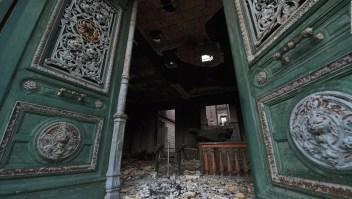 Así quedó el Museo Nacional de Brasil tras el fuego