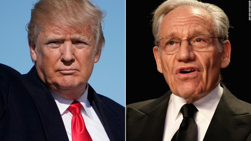 Donald Trump y Bob Woodward.