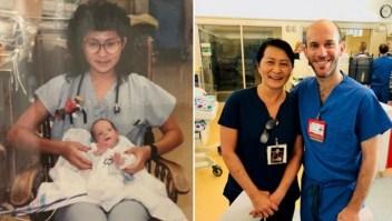 Enfermera y bebé prematuro se reencuentran 28 años después