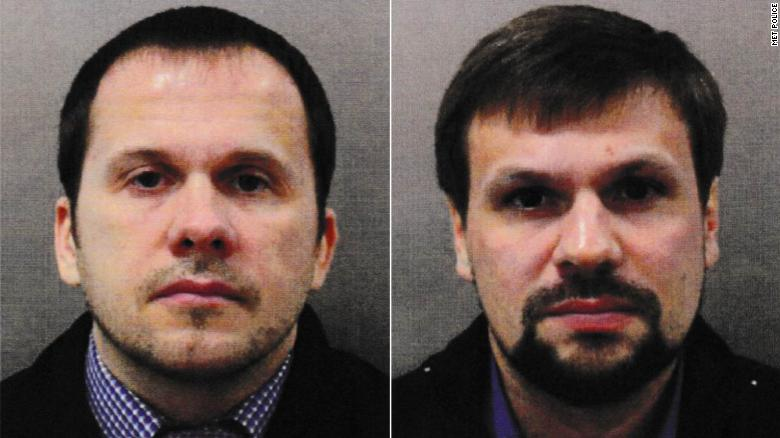 Los sospechosos del ataque de Salisbury, Alexander Petrov y Ruslan Boshirov