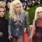 Allegra Versace Beck, Lady Gaga, y Donatella Versace en el Metropolitan Museum of Art en Nueva York. (Crédito: TIMOTHY A. CLARY/AFP/Getty Images)