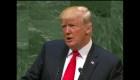 Trump dice ante la ONU que busca evitar la migración descontrolada
