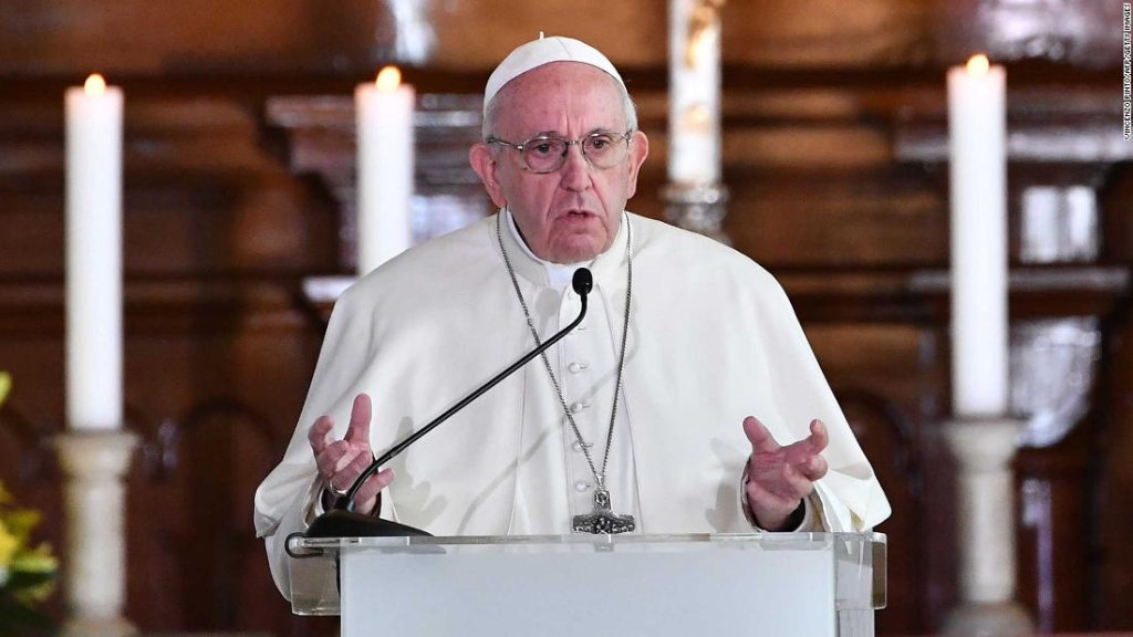 El papa Francisco durante un discurso en Estonia. (Crédito: VINCENZO PINTO/AFP/Getty Images)