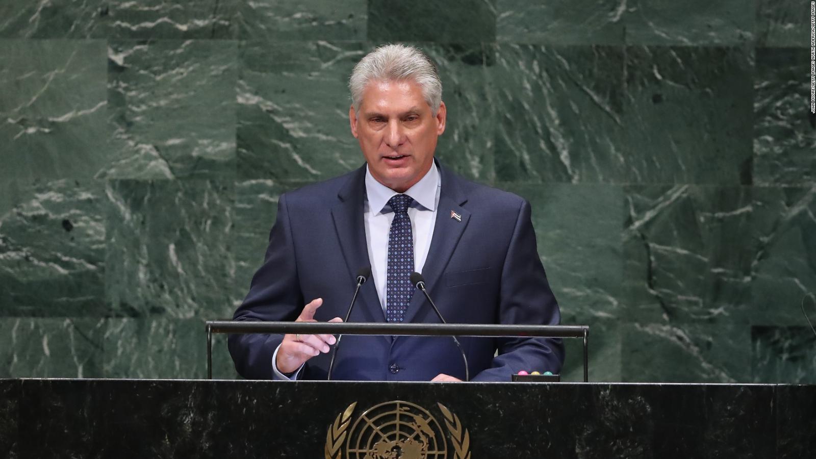 """Díaz-Canel: """"(Estados Unidos) ataca con especial saña a Venezuela"""""""