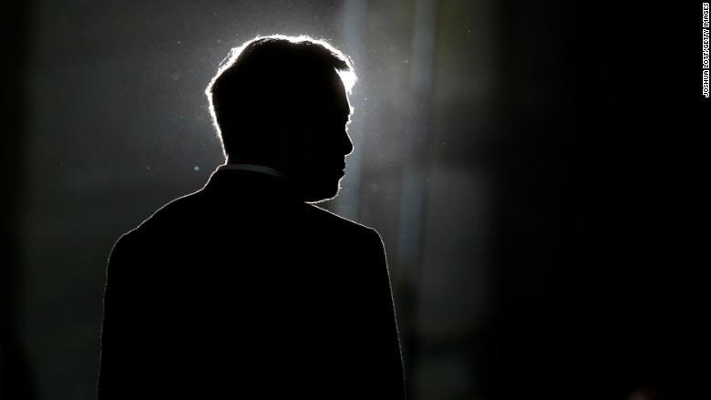 Silueta de Elon Musk. (Crédito: Joshua Lott/Getty Images)