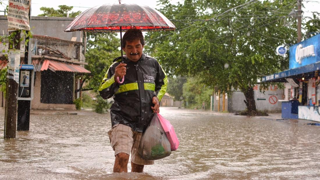 Inundaciones en el estado mexicano de Guerrero en septiembre de 2017. (Crédito: FRANCISCO ROBLES/AFP/Getty Images)