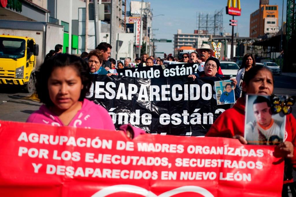 Marcha en contra de desapariciones en México en enero de este año. (Crédito: JULIO CESAR AGUILAR/AFP/Getty Images)