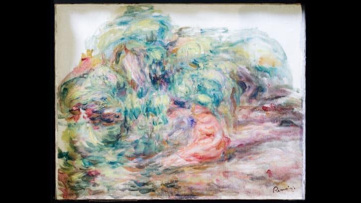 'Deux Femmes Dans Un Jardín' fue pintado en 1919. Crédito: Cortesía de Sylvie Sulitzer a través de AP
