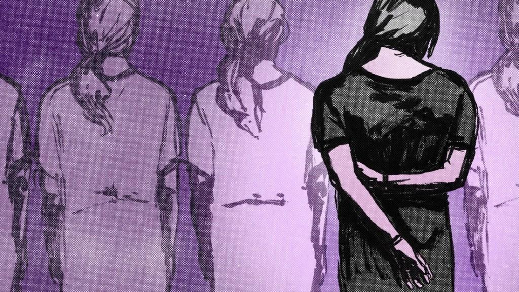 Ilustración violación acoso y abuso sexual