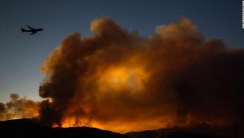 Humo de incendios en California