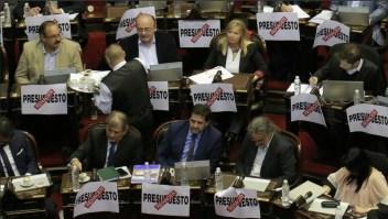 Los diputados de oposición en Argentina piden rehacer el presupuesto